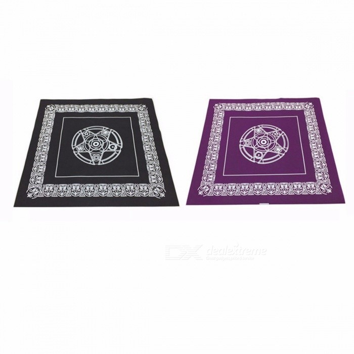 Tarot Game Tablecloth 49 x 49cm Pentacle Non-woven Material Board Game Textiles Tarots Table Cover Playing Cards
