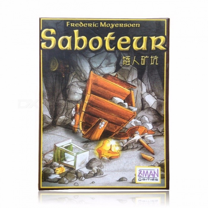 Multiple Language Rules Saboteur 1 Saboteur 2 Expansion/VIP Pack/Simple Pack, Cards Game Table Game, Board Game