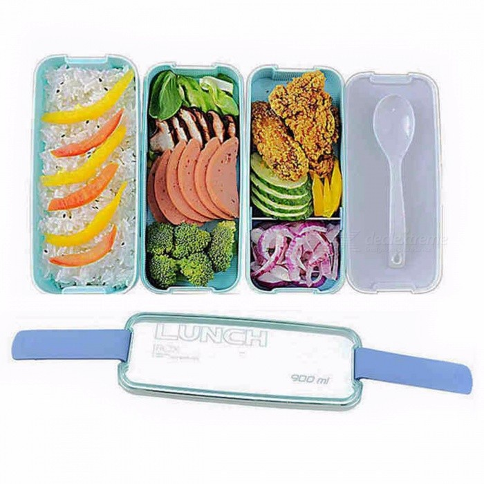 Urijk Travel Food Lunch Boxes Plastic Lunchbox Storage Food Container with Spoon Bento Box Organizer Containers for Food Kitchen GreenContainer <br>Description<br><br><br><br><br>Feature: Microwavable,Leakproof,With Spoons or Chopsticks,Eco-Friendly<br><br><br>Brand Name: Urijk<br><br><br><br><br>Shape: Rectangle<br><br><br>Material: Plastic<br><br><br><br><br><br><br><br><br><br><br><br>Material: Plastic PP <br><br><br>Size: 17.5 x 11.5 x 7.5cm <br><br><br>Capacity: Approx. 900ml <br><br><br>Color: Green, Light Blue, Pink <br><br><br>&amp;nbsp;<br><br><br>Package included: <br><br><br>1x 3 layer Lunch Box <br><br><br>1x Spoon<br>
