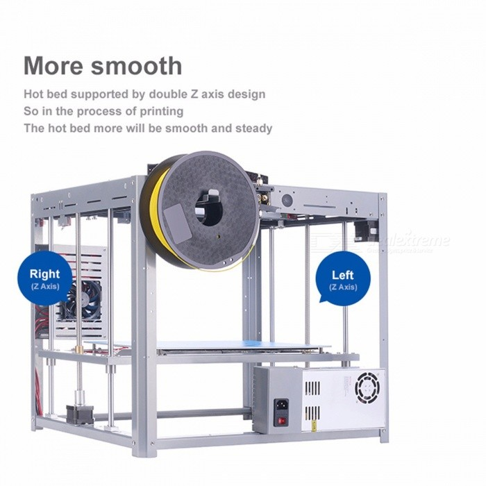 Flyingbear Tornado Large DIY Full Metal Linear Rail 3D Printer Kit with High Quality Precision Double Extruder