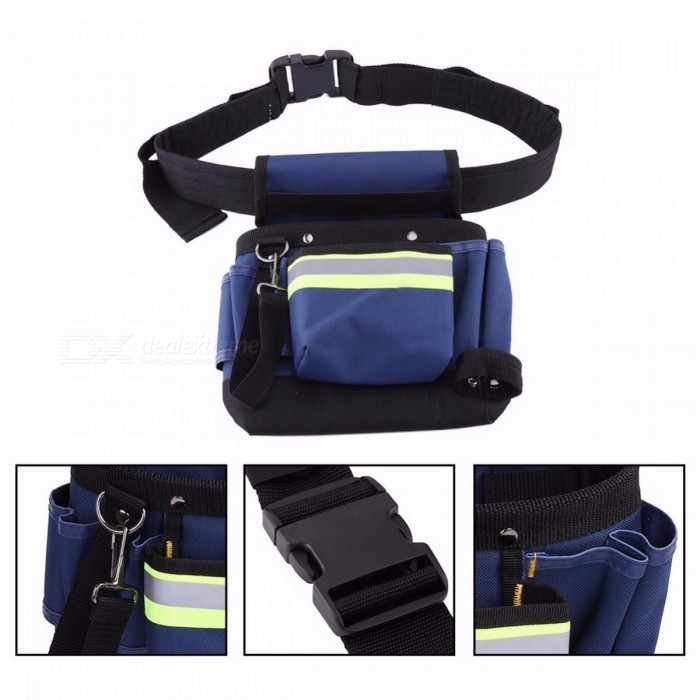 Electrician Men's Waist Bag, Multi-Pocket Tool Holder for Hand Tool Screwdriver, Convenient Work Organizer Pouch