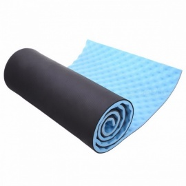15mm 50x180cm Folding Yoga Mat Pad with Carrying Straps for Fitness Exercise Pilates Home GYM Training, Outdoor Camping Blue