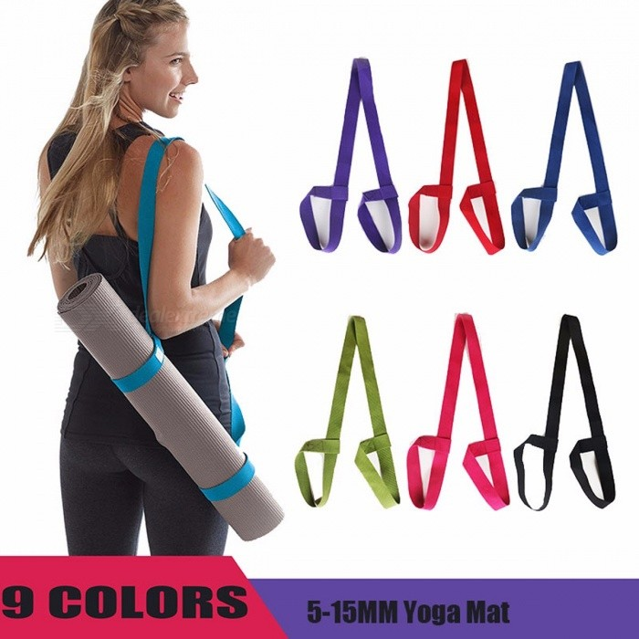 Portable Durable Ajustable Yoga Mat Sling, Sports Fitness Gym Carrier Shoulder Carrying Canvas Cotton Belt Strap PlumDescription<br><br><br><br><br>Material: TPE<br><br><br>Thickness: 4 mm (Senior Type)<br><br><br><br><br>Brand Name: RUNSTAR<br><br><br>Length: Other<br><br><br><br><br><br><br><br><br><br><br>100% New Brand and High Quality<br> Material:Cotton<br> Color:Black/Dark blue/Dark purple/Green/Orange/Pink/Purple/Red/Rose red<br> Size:183*3.8cm*0.23cm<br><br> Features:<br> .Carrying strap for storing yoga mat.<br> .Made of cotton and linen, durable and lightweight.<br> .Strap with adjustable loops/belt closures on both ends to secure any size of yoga mat.<br> .Let mat air out and reduce odor as well as prevent bacteria growth.<br> .Also can be used as yoga strap to master yoga poses and other fitness exercises.<br> .Great for keeping your hands free and keeping mat from unrolling.<br><br> Package included:<br> 1x Yoga Mat Strap<br>