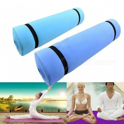 1Pc New EVA Foam Eco-friendly Dampproof Soft Exercise Pilates Yoga Camping Pad Mat, Sleeping Mattress Blue