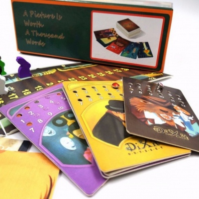 Portable Dixit 1+2+3+4+5+6+7+8 Cards Game Toy for Home Party, English & Russian Rules Educational Board Game Colorful