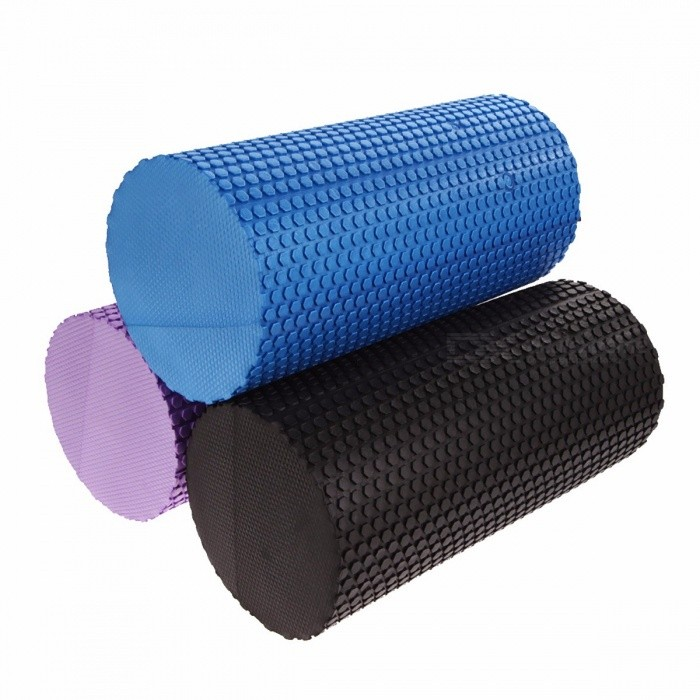 EVA Foam Yoga Blocks Roller, Gym Exercise Fitness Floating Point Physio Trigger Massager Sports Tool  BlackDescription<br><br><br><br><br>Brand Name: cycle zone<br><br><br><br><br><br><br><br><br><br><br><br><br>Features:<br>1. Made of EVA foam,Lightweight,soft to touch,rich elastic buffer,surface with massage floating point<br>2. Waterproof,anti-slip,non-toxic,tasteless,odourless<br>3. The most popular pilates/yoga trainers, can also do childrens sporting goods,swim rod<br>4. Yoga column can help yoga practitioners to finish the balancing act<br>5.<br> Can eliminate muscle tension, and strengthen the core muscle strength <br>and flexibility, stretching the muscles and tendons,lipid-lowering <br>toning<br>6. Also can break up the soft tissue adhesions <br>and scar tissue,Self-massage and myofascial release, break trigger <br>points, relieve tension fascia while increasing blood flow and <br>circulation of the soft tissue. <br><br><br>&amp;nbsp;<br><br><br>Specifications: <br><br>1. Material: EVA <br>2. Surface: Massage Floating Point <br>3. Size: Approx. 31cm X 14.8cm(L X D) <br>4. Color: Black, Blue, Purple <br><br>Tips: <br>1. After the warm-up exercises to do yoga column. <br>2. The site of the soft tissue on the bottom of the column you want to relax. <br>3. Gently roll the column body, the muscles need to be trained to train. <br>4. The column moved slowly from the center to the extremities of the body. <br>5. If you find body parts in the column pain,maintaining that part of the action until relax. <br>6. Note tight little movement or parts. <br>7. Rolling several times in every part of the shaft, until you feel relaxed. Sometimes there may be some discomfort. <br>8. Ensure that the shaft in the soft tissue area, rather than directly on the bone or articular. <br>9. The first time the use of the foam roller is shorter, 15 minutes is sufficient. <br>10. At the beginning, after a period of time to rest for a while exercising. <br>11. After the workout drink plenty of water, just as the same after a body massage. <br>12. If desired, a few weeks after the training time can be increased. <br><br>How to use: <br>1. Exercise your hamstrings (the large tendon), first sitting on <br>the rolls, the soft parts of the hips sit directly on top roller. Slowly<br> rolling back and forth, relax tight muscles. <br>2. Unleash your quadriceps is one of the simplest methods of foam <br>roller exercises. Maintain a balance with both hands, lying on top of <br>the shaft, the front part of the thigh workout from the hip to the knee. <br>3. Use yoga stick on the IT band may be painful, but many people <br>find it is a very effective stretching exercises.With the body lying on <br>the side of the shaft, the shaft is located in the foam part of the hip <br>look. If you want to add more pressure should be maintained in the upper<br> and lower legs in a straight line. Alternatively,to reduce the weight <br>of the bending leg axis in the foam and maintain a better balance. <br>Support with both hands, push the knees from the hip direction foam <br>roller, tension or pain at the site of what stays, repeat other side of <br>the practice. <br>4. The yoga shaft located in the small calf, with the support of <br>the hand, and slowly roll axis from the knee to the ankle, while staying<br> in tight or sore. Promote the launch of the shaft with their feet, <br>keeping the toes bent, focusing on the entire muscle group exercises. <br>Increased by one leg or both legs or by reducing the pressure, or a leg <br>up to increase the pressure on the other leg. <br>5. Will be placed below the shoulder blade to the shaft of yoga <br>massage and relax the muscles of the back, hands on your head and keep <br>your knees bent, feet flat on the floor. With both feet to control <br>movement and pressure, the head of the yoga axial rolling in the painful<br> area to stay for a while, then go back to the back of the central axis,<br> repeat the above action. <br>6. Another point of muscle tension is under the shoulders, back <br>and armpits, a lot of muscle contraction in this area from the back <br>because they are connected to the upper shoulder blade muscles. Use foam<br> roller exercises lats and triceps, while lying on the side of the body <br>axis of the bubble,the bubble-axis positioning his arm in the armpit <br>(the base of the shoulder blade). The axial direction toward the <br>armpit,staying in pain at the moment, return and repeat. This training <br>can accurately find the need to exercise exercises muscles,take the time<br> to do it very slowly. <br>&amp;nbsp;<br>