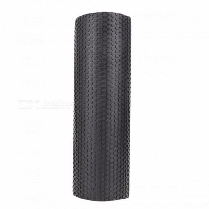 45x15cm Yoga Pilates Fitness Equipment Eva Foam Roller Block, Home Gym Exercise Physio Massage Roller BlackDescription<br><br><br><br><br>Brand Name: VKTECH<br><br><br><br><br><br><br><br><br><br><br><br>45x15cm EVA Foam Roller Yoga Exercise Home Gym Massage Floating Points Fitness Block Sports Training Muscle Relaxation <br><br>Feature: <br>Made of EVA foam,Lightweight,soft to touch,rich elastic buffer,surface With Massage Floating Point <br>Waterproof,anti-slip,non-toxic,tasteless,odourless <br>The most popular yoga trainers, can also do childrens sporting goods,swim rod <br>Yoga column can help yoga practitioners to finish the balancing act <br>Can eliminate muscle tension, and strengthen the core muscle <br>strength and flexibility, stretching the muscles and <br>tendons,lipid-lowering toning <br>Also can break up the soft tissue adhesions and scar tissue, <br>Self-massage and myofascial release, break trigger points, relieve<br> tension fascia while increasing blood flow and circulation of the soft <br>tissue. <br><br>Specification: <br>Material: EVA <br>Color: Black/Red/Purple/Pink <br>Surface: Massage Floating Point <br>Size: about 45x14.5cm / 17.71x5.7<br>