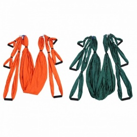 Outlife High Strength Decompression Yoga Hammock Inversion Trapeze, Anti-Gravity Aerial Traction Strap Belt Swing Set Orange