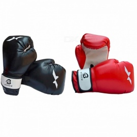 1 Pair Training Boxing Hand Protector Gloves, New Style Boxing Mitts for Sanda Karate Sandbag Taekwondo Fighting Black