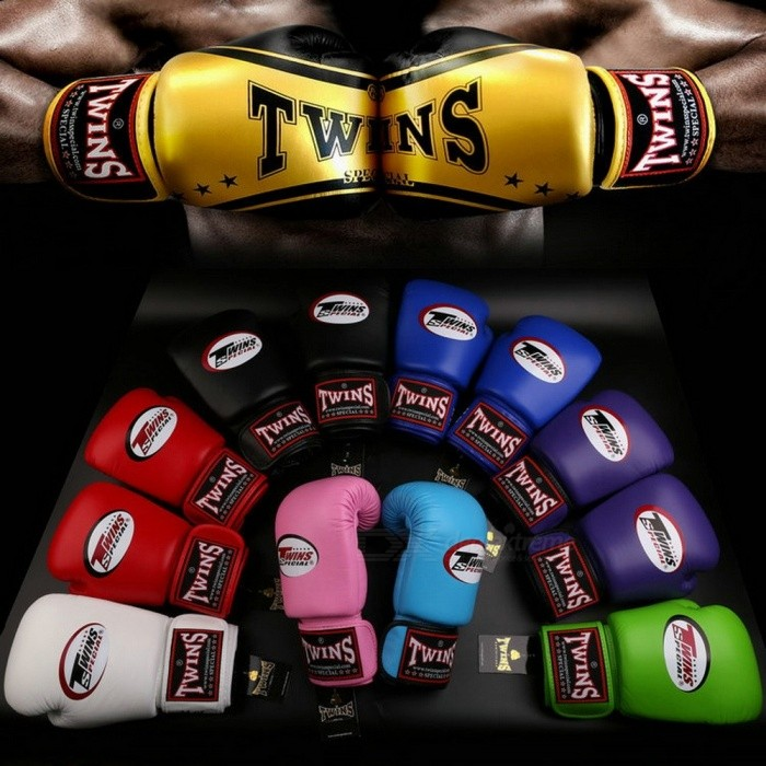 Premium Portable 1 Pair PU Leather Muay Thai Twins Kicking Boxing Gloves for Adults Men Women Training in MMA