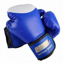 Premium 1 Pair MMA Training Equipment PU Leather Boxing Gloves, Kicking Fighting Sandbag Sanda Gloves  Red