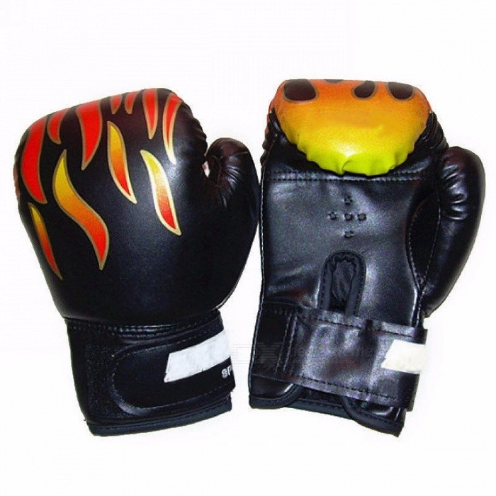 51239be1148 Professional 1 Pair Flame Boxing Gloves Punch for Kids Child Boys Beginner
