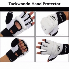 Kids Adult Half Finger Fight Boxing Gloves Mitts, Sanda Karate Sandbag Protector for MMA Muay Thai Kick Boxing Training XL(US Size)/White