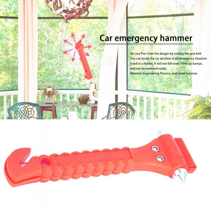 OUTAD Mini Life Saving Escape Emergency Car Safety Hammer Rescue Tool, Seat Belt Cutter, Window Glass Breaker