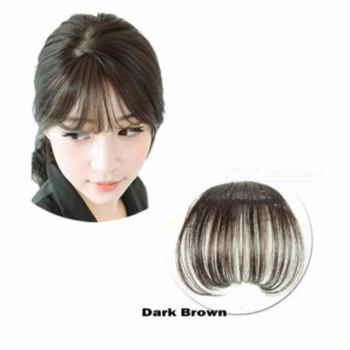 Clip On Type Front Neat Bang Hair Extension Fringe Hairpieces False