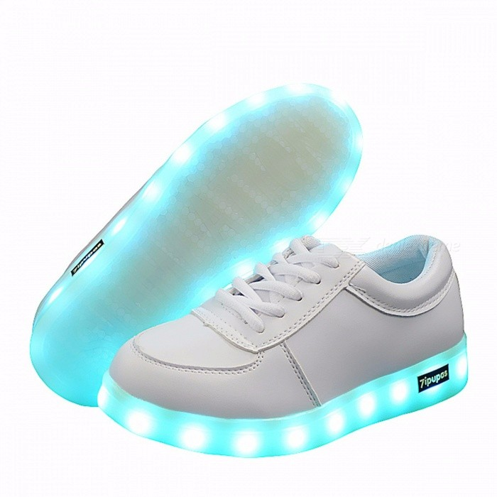 7ipupas Luminous LED Light Up Casual Sports Shoes for Boy Girl Kids, Christmas LED Lighted Simulation Glowing Tennis Sneakers