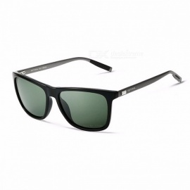 VEITHDIA Unisex Retro Aluminum + TR90 Sunglasses, Polarized Lens Vintage Eyewear Sun Glasses for Men / Women Gray
