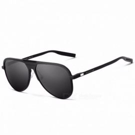 GUZTAG Unisex Classic Aluminum Sunglasses, HD Polarized UV400 Mirror Sun Glasses Eyewear for Men, Women Silver