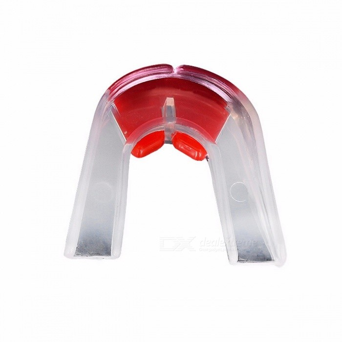 Mini Boxing Mouth Guard Mouthpiece Protective Gear, Silicone Nozzle Teeth Protector with Box for Boxing Martial Art Sport