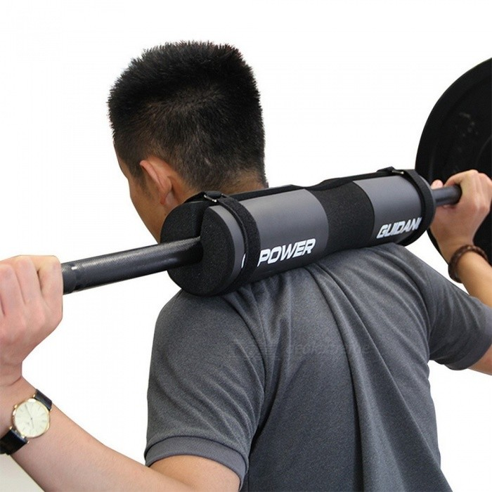 High Quality Weight Lifting Barbell Support Pad Squat Weight Lifting Shoulder Protection Pull Up Gripper - Black