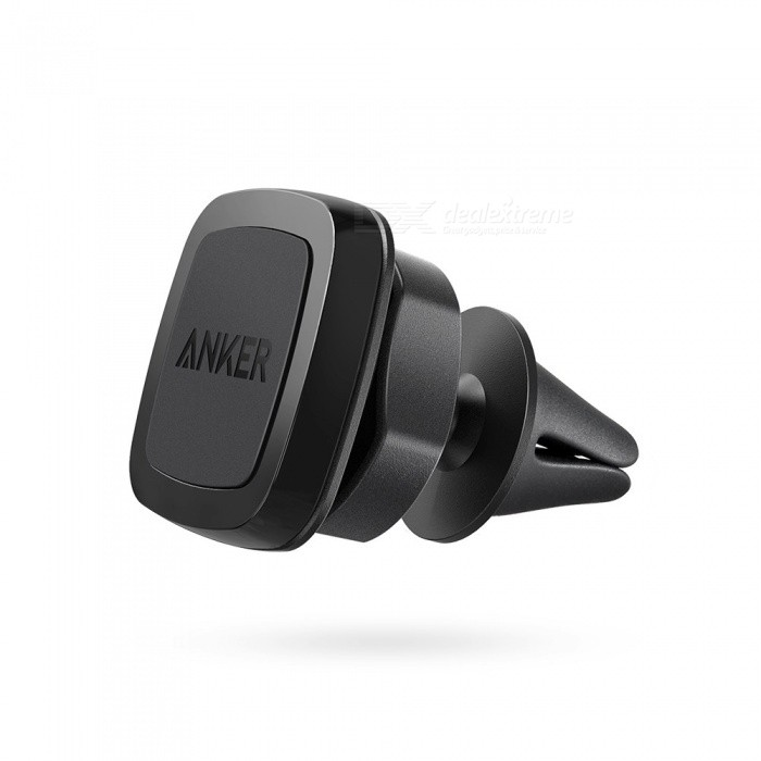 Anker Car Air Vent Magnetic Mount, Highly-Adjustable Phone Holder for IPHONE SE / 6 / 6s / 7, Nexus 5X, Moto E, OnePlus X etc BlackMounts &amp; Holders<br>Description<br><br><br><br><br>Compatible Brand: Universal<br><br><br>Charger: No<br><br><br><br><br>Brand Name: Anker<br><br><br>Has Speaker: No<br><br><br><br><br><br><br><br><br><br><br>Air Vent Magnetic Car Mount<br><br>The Highly-Adjustable Car Phone Holder<br><br><br>&amp;nbsp;<br><br><br>Sturdy &amp;amp; Secure<br><br><br>The reinforced base ensures that the car mount stays firmly fixed to <br>your car's air vent. Four high-powered neodymium magnets built into the <br>mount head keep your phone securely attached. Enjoy safe hands-free <br>phone access on the road.<br><br><br>&amp;nbsp;<br><br><br>Infinite Viewing Angles<br><br><br>A highly-flexible ball joint allows you to easily adjust the car mount to any angle.<br><br><br>&amp;nbsp;<br><br><br>Universal Compatibility<br><br><br>Built with dual-sized claws to give a perfect fit with almost any air <br>vent. Mount your phone securely without worrying about losing grip.<br><br><br>&amp;nbsp;<br><br><br>Hassle-Free Installation<br><br><br>Tool-free installation makes setup foolproof. Set up the mount, attach your phone and drive off in under 60 seconds.<br><br><br>&amp;nbsp;<br><br><br>Note:<br><br><br>• &amp;nbsp;Metal plate may interfere with wireless charging (for compatible <br>devices such as Samsung S7/ S6/ Note 5, Nexus 6P/ 5X/ 6). Remove the <br>metal plate before using a wireless charger.<br><br><br>• Attach metal plate directly to the back of thicker phone cases to avoid interference with magnetic attachment.<br><br><br>•&amp;nbsp;Narrow axis fits air vent slats sized 1.5 - 2.5mm, thick axis fits 2.5 - 4mm.<br>