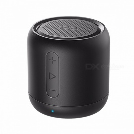Anker SoundCore Mini Super-Portable Bluetooth Speaker with 15-Hour Playtime, 66-Foot Bluetooth Range, Enhanced Bass Microphone Black