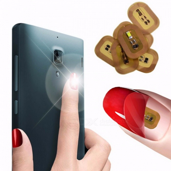 1 Set Premium New Wearable Smart Nail Stickers, Simulate IC Card NFC ...