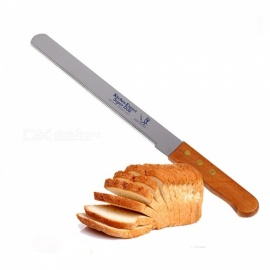 Portable Stainless Steel Bread Toast Tomato Sawtooth Knife Slicer Cutter, Kitchen Serrated Fruit Vegetable Carving Tool 10 inch