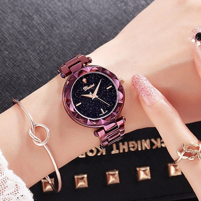 Top Quality Luxury Crystal Round Dial Women Lady Dress Watch ... 950aa8a265a54