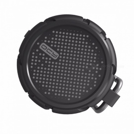 QCY IPX7 waterproof outdoor wireless speaker Bluetooth v4.2 stereo sound for Golf Beach Shower & Home  Black