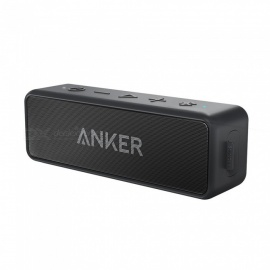 Anker SoundCore 2 Portable Bluetooth Wireless Speaker Better Bass 24-Hour Playtime 66ft Bluetooth Range IPX5 Water Resistance Black