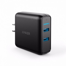 Anker Quick Charge 3.0 39W Dual USB Wall Charger PowerPort Speed 2 for Sumsung Galaxy,PowerIQ for iphone ipad LG Nexus HTC etc US