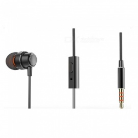 Anker Soundbuds Mono 3.5mm Unilateral Earphone Premium Metal Finishing With Superior Sound and Voice Quality Black