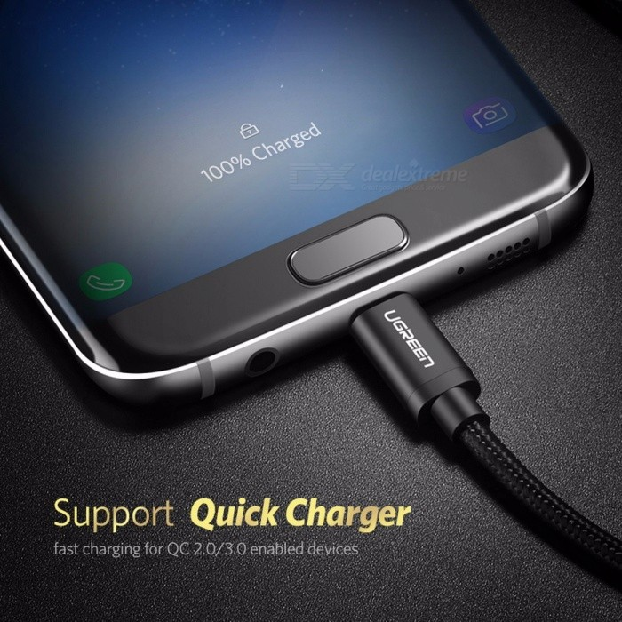 Ugreen Micro USB Cable Android Nylon Braided Charger USB to Micro USB Fast Charging Cable for Samsung Xiaomi HTC Tablet USB Cord