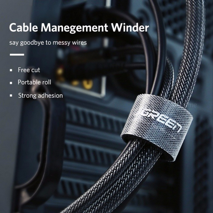 Ugreen Nylon Cable Winder Wire Organizer Eearphone Holder Mouse Cord Protector Cable Management For Samsung iPhone Ethernet Wire
