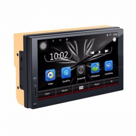 2 Din Car DVD Player Android Radio Bluetooth GPS Navigation WiFi Stereo Video 7 Inches 1024*600 Universal Car Multimedia Player B1801A and DVR