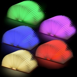 WA903 Rechargable Lumio-Style 32- LED, 360 Degree Rotation Folding Book Lamp 4 Colors Light Innovative Gift Yellow