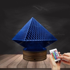1Piece Egypt Themed 3D illusion Wireframe Lights Egypt Pharaoh Pyramid Anubis Three-Dimensional Light Effect LED Night Lights Yellow