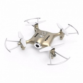 Original SYMA X21W Wi-Fi FPV 4CH 6-Aixs RC Quadcopter RTF Drone Toy with Gyro, Altitude Hold Mode, 1 Mega Memory Card Gold