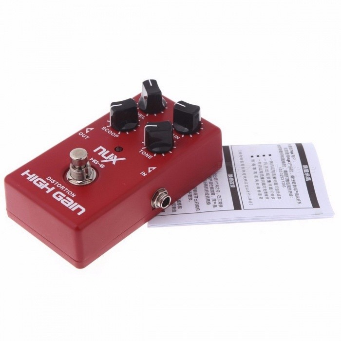 NUX HG-6 High Gain Guitar FET simulate Distortion  Overdrive Effect Pedal True bypass Hardware Switching