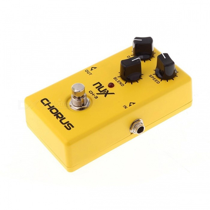 NUX CH-3 Violao Guitar Guitarra Electric Effect Pedal, Chorus Low Noise BBD High Quality True Bypass Yellow Musical Instrument