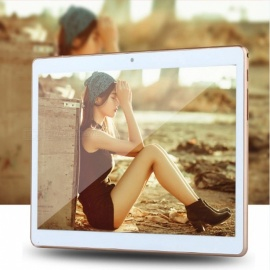 10 Inches Android 6.0 Tablet PC 2GB RAM Built-in 3G Phone Call Dual SIM Card MTK6580 Quad Core Tablet PC  Gold/Standard
