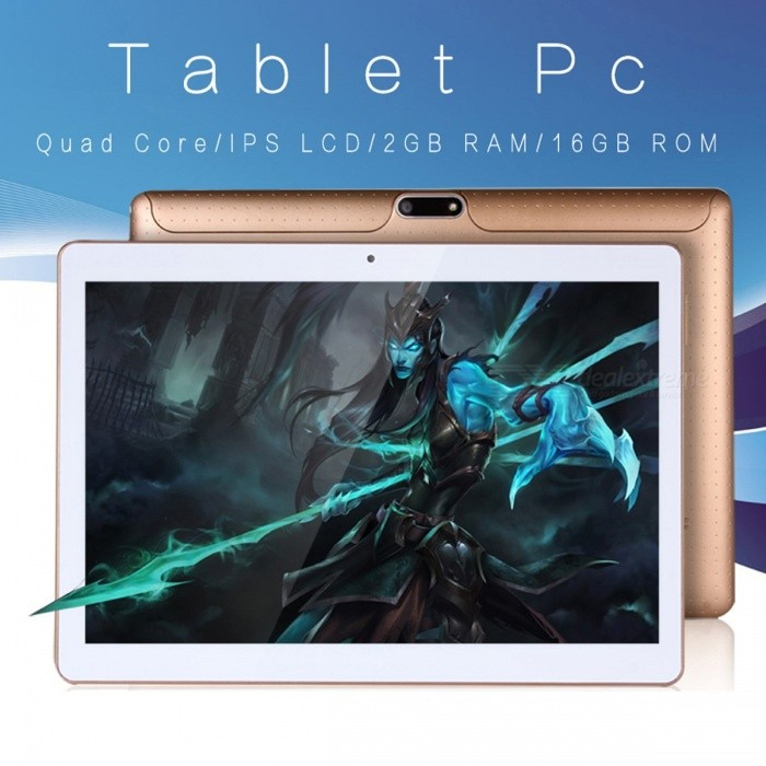 10 Inches Android 6.0 Tablet PC 2GB RAM Built-in 3G Phone Call Dual SIM Card MTK6580 Quad Core Tablet PC