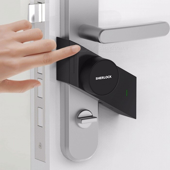 Xiaomi Sherlock Smart Lock, M1 Mijia Smart Door Lock, Keyless Fingerprint + Password Work to Mi Home APP Phone ControlDoorbells<br>Quantity1 setPower AdapterBatteryForm  ColorLeft Side OpenPacking ListProduct<br>