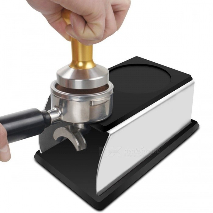 Realand Sturdy Stainless Steel Silicone Espresso Coffee Tamper Stand Barista Tool, Tamping Holder Rack Shelf Coffee Machine Tool blackTea Supplies<br>Description<br><br><br><br><br>Type: Coffee &amp;amp; Tea Tools<br><br><br>Certification: CIQ,CE / EU,SGS<br><br><br><br><br>Brand Name: REALAND<br><br><br>Feature: Eco-Friendly,Stocked<br><br><br><br><br>Capacity: &amp;lt;50ml<br><br><br>Specification: 350ml<br><br><br><br><br>Coffee &amp;amp; Tea Tools Type: Coffee Tampers<br><br><br>Number of Users: 3<br><br><br><br><br>Material: Stainless Steel<br><br><br>Style: Other<br><br><br><br><br>Technics: Other<br><br><br><br><br><br><br><br><br><br><br><br><br>Features<br><br><br>&amp;nbsp;<br><br><br>&amp;nbsp;<br><br><br>Made from food safe silicone and stainless steel.<br><br><br>Anti-skidding with thick silicone in the bottom and top, Highly resistance to heat , oils and water.<br><br><br>The bottom base is detachable for easy cleaning<br><br><br>Long service time: Highly resistant to thermal and oxidative<br><br><br>Dishwasher safe<br><br><br>&amp;nbsp;<br><br><br>&amp;nbsp;<br><br><br>&amp;nbsp;<br><br><br>Specification<br><br><br>&amp;nbsp;<br><br><br>&amp;nbsp;<br><br><br>Material: &amp;nbsp;stainless steel+ silicone&amp;nbsp;<br><br><br>&amp;nbsp;<br><br><br>Size: pleas check the picture<br><br><br>&amp;nbsp;<br><br><br>&amp;nbsp;<br><br><br>&amp;nbsp;<br><br><br>Package content<br><br><br>&amp;nbsp;<br><br><br>1*1pc tamper holder<br>