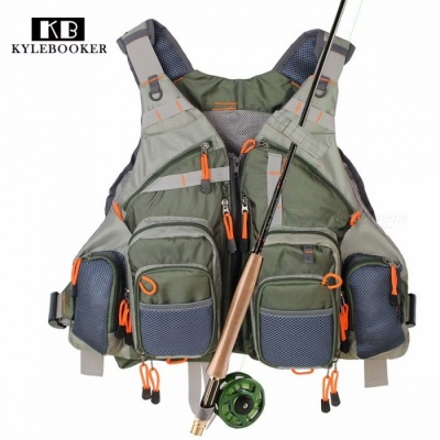 Universal General Size Multi-Function Adjustable Fishing Mesh Vest with Mutil-Pocket, Outdoor Fly Quick Dry Fish Vest One Size/Green