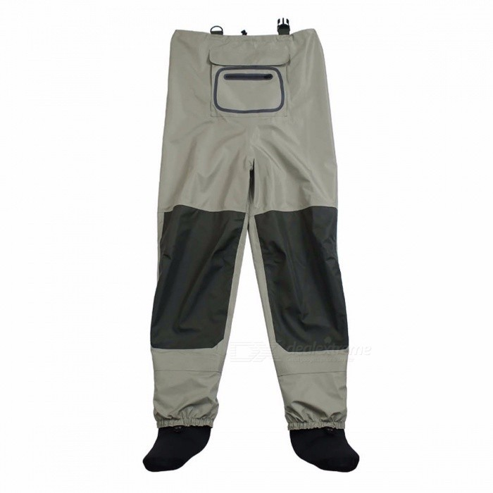 Outdoor Practical Fly Fishing Stocking Foot Waterproof and Breathable Chest Waders with One Buckle Accidentally Rope Kits XXLDescription<br><br><br><br><br>Brand Name: Kylebooker<br><br><br>Shoes Size: 40<br><br><br><br><br>Outdoor Activity: Upstream<br><br><br>Applicable People: Unisex<br><br><br><br><br><br><br><br><br><br><br>Its made with a breathable, three-layer material and is fitted with anatomically designed neoprene booties. <br>The Fishing waders With&amp;nbsp; accidentally <br>rope. It can be linked to the accessories box, bag, scissors, road <br>sub-control fish and other fishing gear accessories,&amp;nbsp; prevent&amp;nbsp; tools&amp;nbsp; <br>the use of careless or fishing&amp;nbsp; and other factors ,lead to loss or slip <br>into the water. <br><br><br><br><br>Features <br>With buckle accidently rope<br>Breathable upper with three-layer shell fabric<br>Reinforced four-layer shell along legs &amp;amp; seat<br>Adjustable suspenders with buckle closures<br>Neoprene booties<br>Water-resistant&amp;nbsp; zippered chest pocket<br>Internal storage pocket <br><br>Package contents<br><br><br>fishing waders+one buckle accidently rope<br>