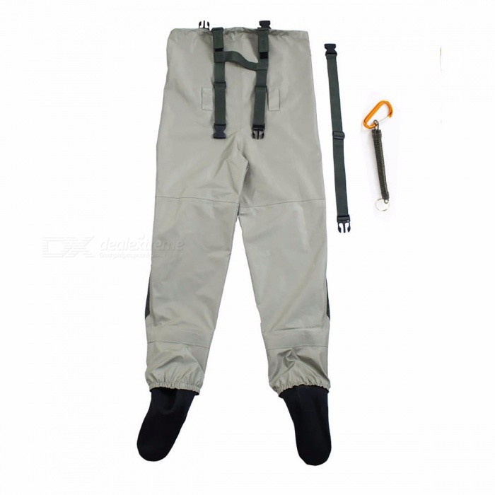Outdoor Practical Fly Fishing Stocking Foot Waterproof and Breathable Chest Waders with One Buckle Accidentally Rope Kits