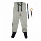 Outdoor Practical Fly Fishing Stocking Foot Waterproof and Breathable Chest Waders with One Buckle Accidentally Rope Kits XXL