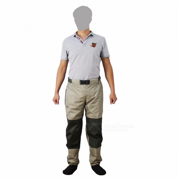 KyleBooker Fly Fishing Waders Pants Trousers Cool Durable Weatherproof Wading Pants with Tricot Fabric XXLDescription<br><br><br><br><br>Applicable People: Unisex<br><br><br>Brand Name: Kylebooker<br><br><br><br><br>Outdoor Activity: Upstream<br><br><br>Shoes Size: 45<br><br><br><br><br><br><br><br><br><br><br><br>If most of the wading you do <br>involves high-mountain streams or mid-thigh excursions in slow-moving <br>rivers or calm lake waters. Designed for below-waist wading use, the <br>KB003 Guide Pant features TRICOT fabric and Gore taped seams for <br>unbelievable waterproofness and breathability. 5-layer fabric found in <br>the seat, waist, and throughout the leg offers incredible durability and<br> protection, while the KB003 Guide Pants overall construction supplies <br>less wear and tear and enhanced durability.<br><br><br>KB003 Guide Pant have its&amp;nbsp; front and back leg seam design<br>that allows for an unprecedented amount of mobility and leg <br>articulation in the wader while eliminating seams from the critical wear<br> zones at the inner leg.<br>Its articulated knees ensure maximum <br>comfort and mobility when you reel in your catch. And the KB003 Guide <br>Pants waistband construction with integrated belt loops and double snap<br> closure and two-inch elastic belt with KyleBooker Trout buckle supplies<br> a comfortable, secure fit.Abrasion-resistant neoprene material with <br>stainless steel boot hooks and a reinforced attachment design while <br>anatomically-engineered, hourglass-shaped, 4-millimeter neoprene <br>stockingfeet offer a better, more comfortable fit. If you need a place <br>for your fly fishing license, dry shake, or sunglasses chamois, simply <br>use the KB003 Guide Pants Internal flip-out storage pocket.<br><br><br><br><br><br><br>Features<br><br>Waterproof breathable TRICOT 3-layer upper, TRICOT 5-layer lower.<br>Waistband with&amp;nbsp; elastic belt with KyleBooker Trout buckle<br>Front and back leg seams, articulated knees<